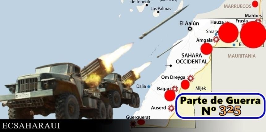 GUERRA EN EL SAHARA   Parte de Guerra Nº 325