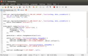 Notepadqq & CodeMirror screenshot