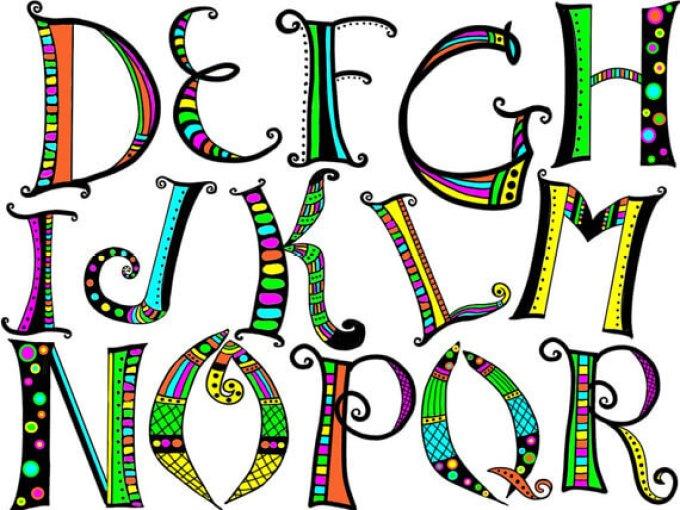 Ragam jenis font dalam doodle art
