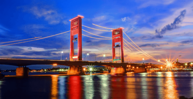 Image result for jembatan ampera