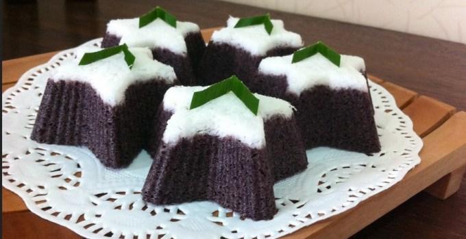 resep dan cara membuat Kue Putu Ayu Ketan Hitam