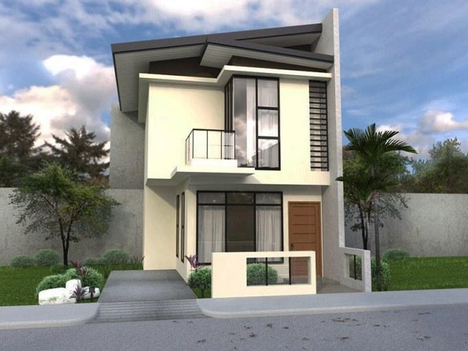 Desain Rumah Minimalis Atap Bertumpuk