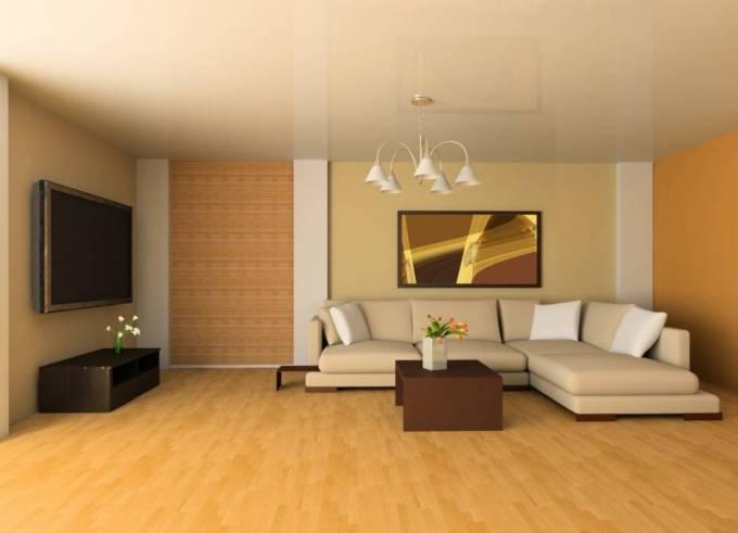 desain ruang tamu minimalis kuning