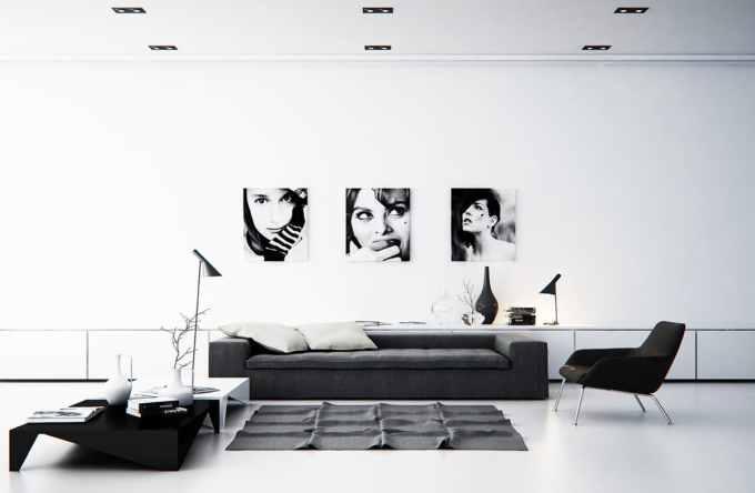 desain ruang tamu minimalis tematik