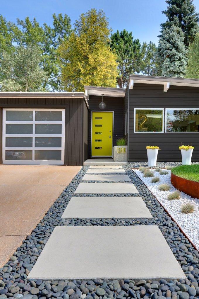 desain rumah minimalis aksen kuning