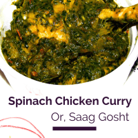 Spinach Chicken Curry |Saag Gosht