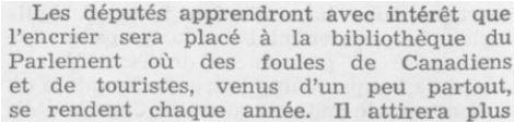 Le très honorable Louis St Laurent Débats de la Chambre des communes, le 7 février 1949 : http://parl.canadiana.ca/view/oop.debates_CDC2005_01/298