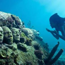 """""""Underwater sculpture, in Grenada, in honor of our African Ancestors who were thrown overboard the slave ships during the Middle Passage of the African Holocaust."""""""