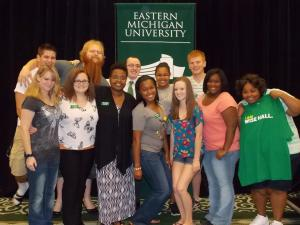 Vanity with her Staff of Resident Advisors at Eastern Michigan University