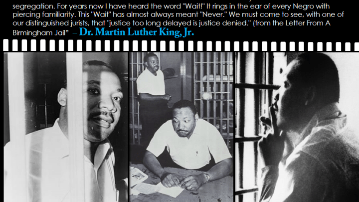 an analysis of dr martin luther kings letter from birmingham jail Martin luther king, jr's letter from birmingham jail and the public statement of the white birmingham clergymen make a natural pairing for a discussion of the pros and cons of nonviolent resistance.