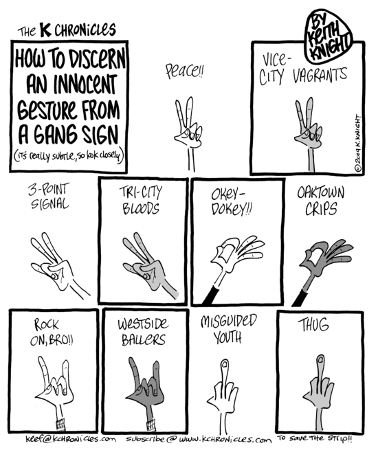 Know Your Gang Signs Nah