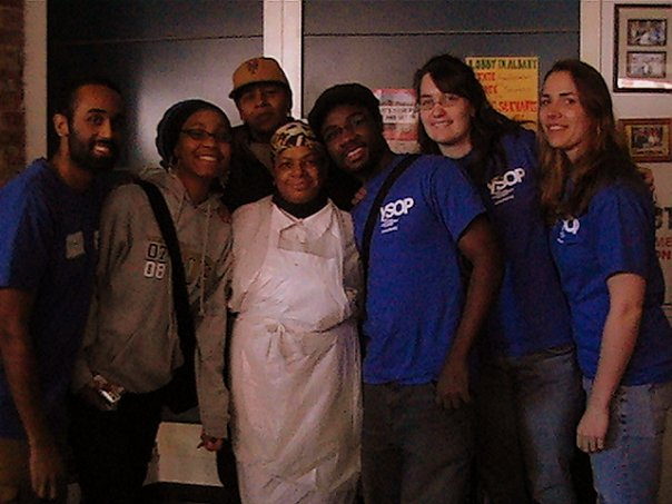 Ending a day of service at the Neighbors Together Soup Kitchen