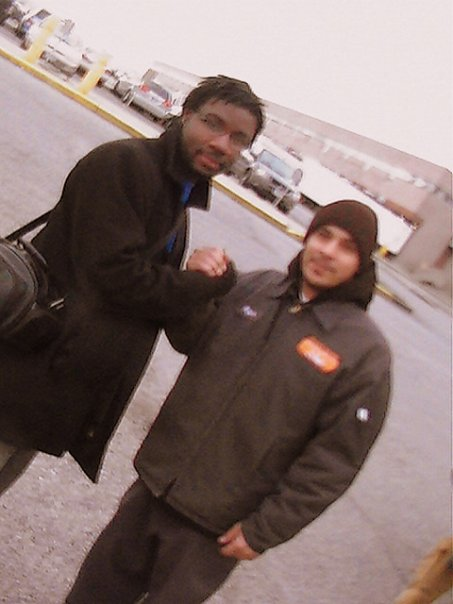 Leaving the New York Food Bank. Omar was a great guy.