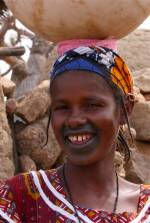 A young girl in Djiguibombo, Dogon Country, Mali, Africa