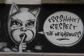 Socially responsible street art in Ghent, Belgium