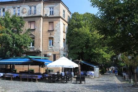 Streetside cafe, Belgrade, Serbia