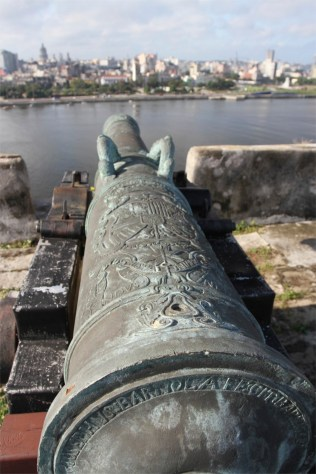 Spanish canons, Fortaleza de San Carlos de la Cabaña, Havana, Cuba