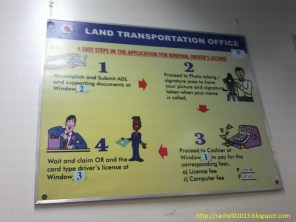 LTO poster. Step-by-step process of application for LTO driver's license renewal