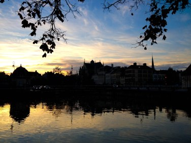 Troyes by sunset