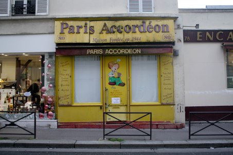 I love that Paris is the kind of city where entire shops are dedicated to such specific things as accordeons.