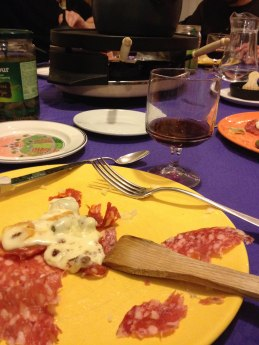 Raclette and Beer with my wonderful host family! They're awesome!