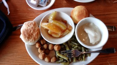 Cracker Barrel vegetable plate as a meat-and-three alternative