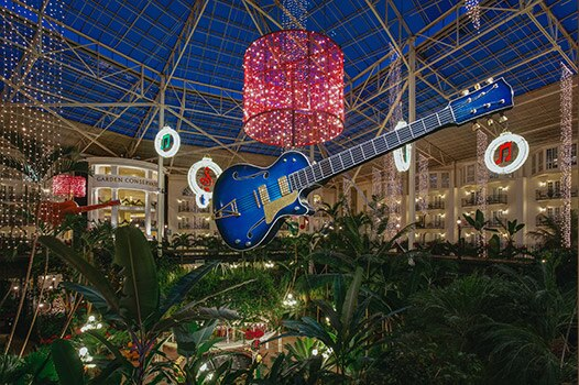 Spectacular lights at Marriott Opryland Hotel