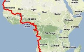 African Trails - London to Cape Town map (2011-08)