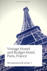 The Vintage Hostel in Paris' romantic Montmartre quarter was a pleasant however not overwhelming experience