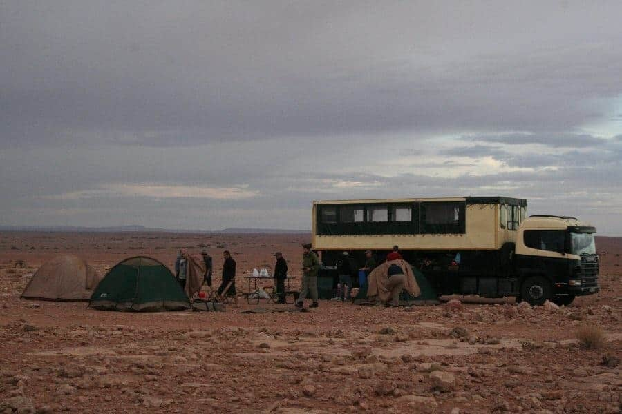 The truck bush camping in the Atlas Mountains (2011-10)