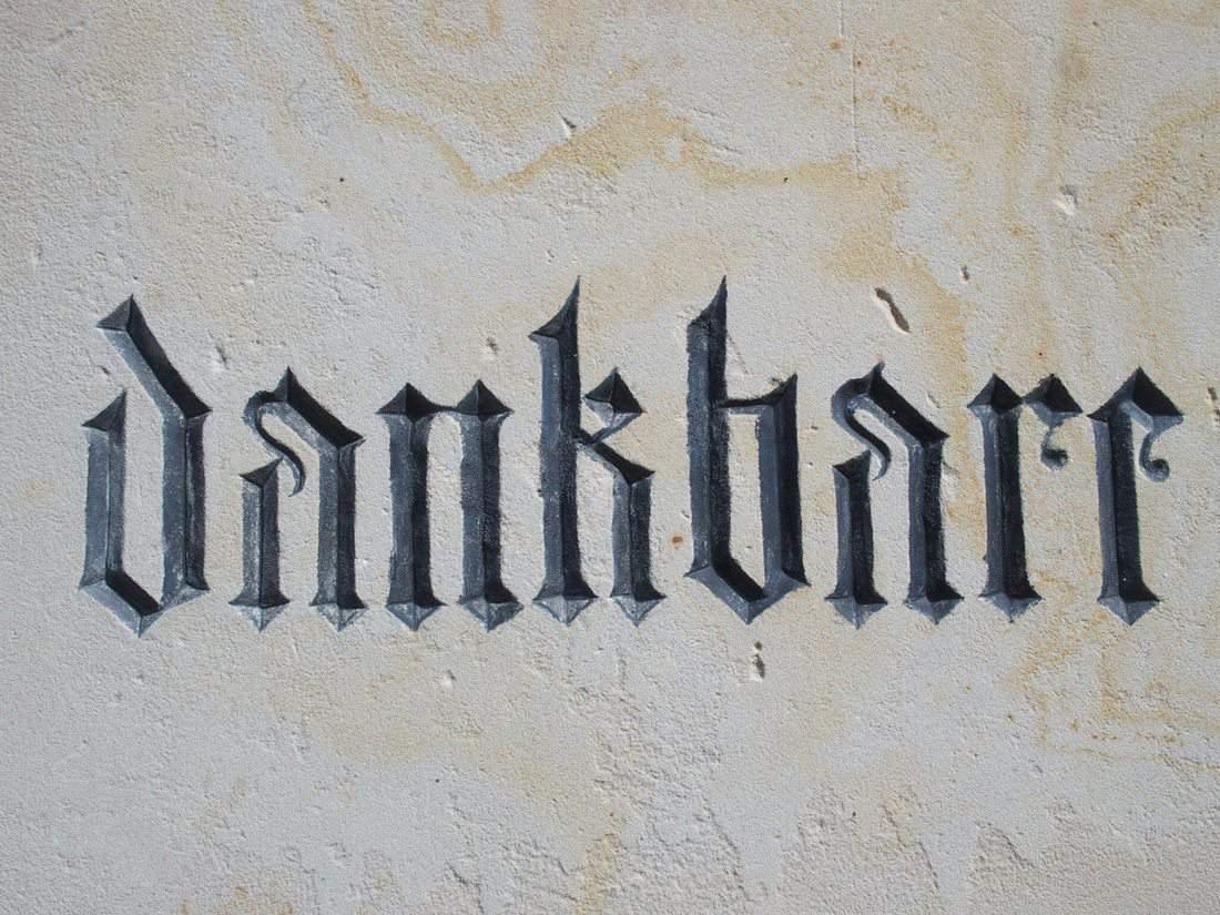 Dankbar sign, Germany (2014-05)