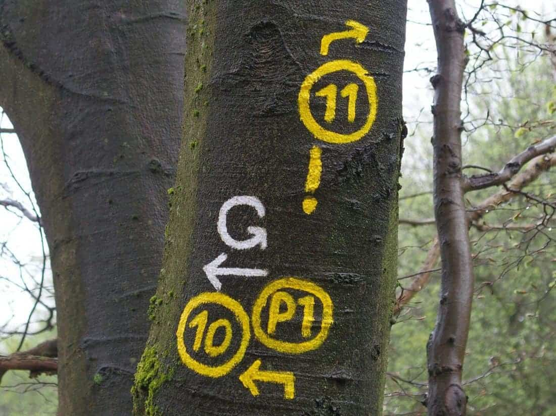 Hiking path markings, Germany (2015-05)