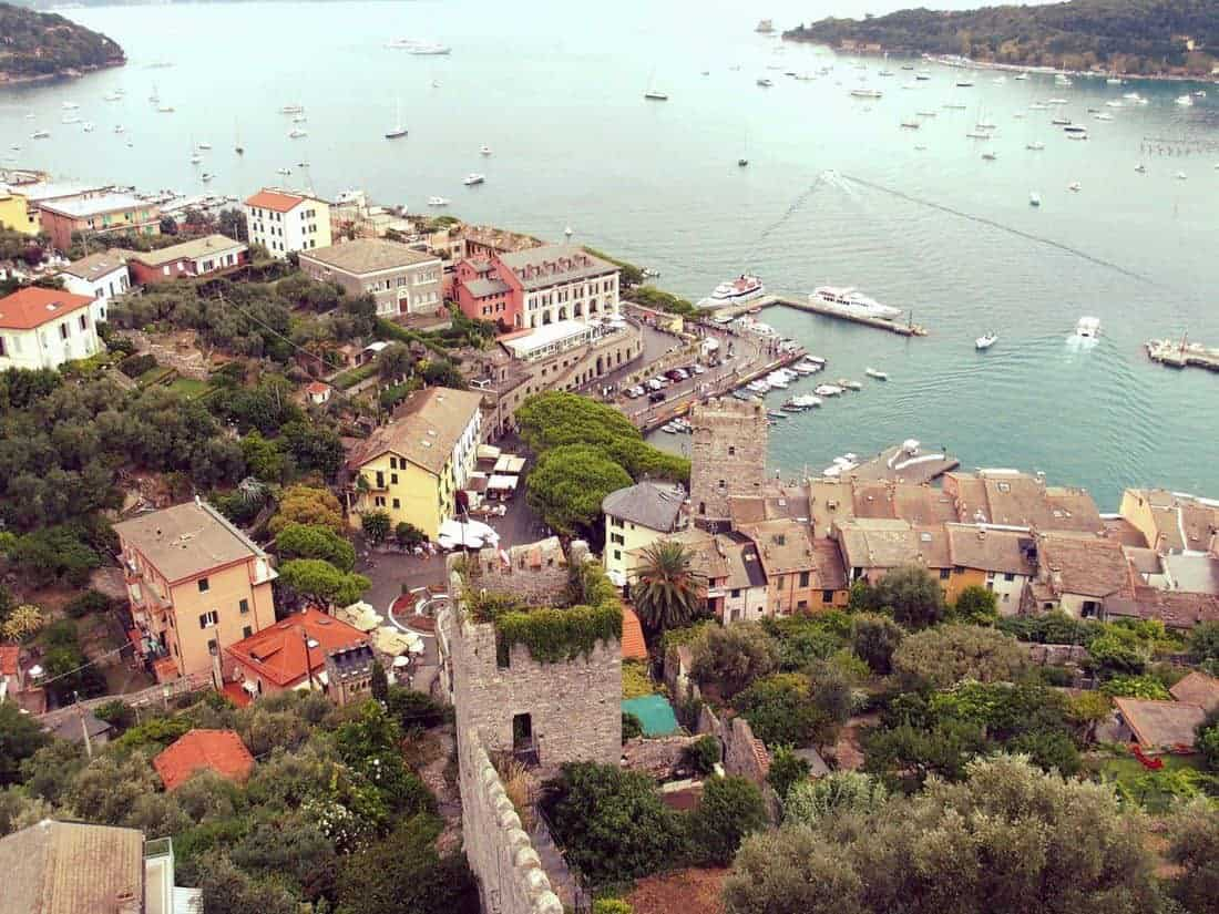 View of Cinque Terre village Porto Venere, Italy (2015-08)