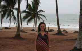 Carola in her African dress, Brenu Beach, Ghana (2011-12)