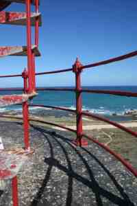 On a lighthouse, Cape Agulhas, South Africa (2012-03)