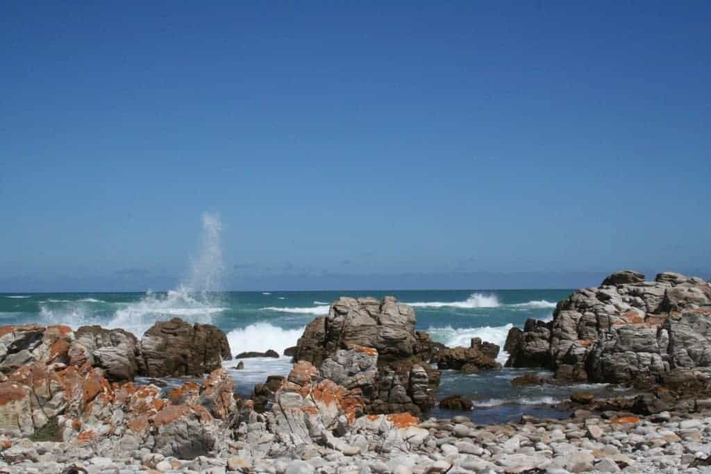 The sea, Cape Agulhas, South Africa (2012-03)