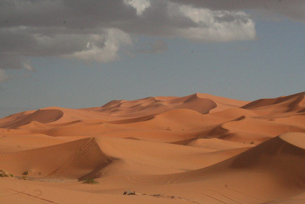 Chebbi Erg dunes at the beginning of the Sahara desert, Morocco (2011-10)