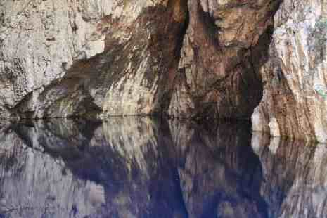 Mirror water in Chinhoyi Caves National Park, Zimbabwe (2012-04)