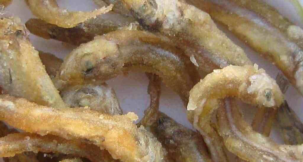 Tiny fried fish snack on Lake Kariba cruise, Zimbabwe (2012-04)