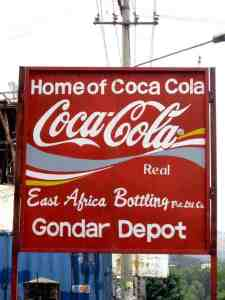 Coca Cola advertising in Gonder, Ethiopia (2012-06)