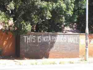 Street art: This is not a politics wall writing, Harare, Zimbabwe (2012-04-02)