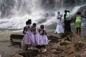 Wedding party at Kintempa Falls, Ghana (2011-12)