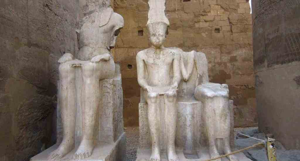 Sculptures in Luxor temple, Egypt (2012-07)