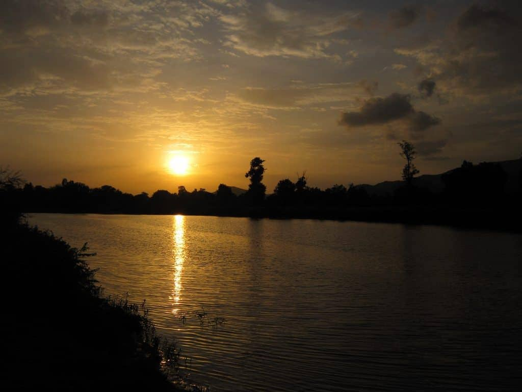The Nile river at sunset, Ethiopia (2012-06)