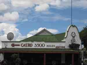3500 Miles to Cairo sign, Bulawayo, Zimbabwe (2012-03)