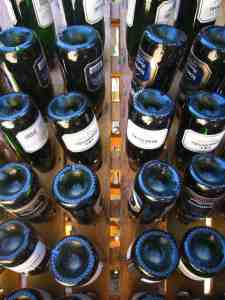 Wine bottles in Stellenbosch, South Africa (2012-03)
