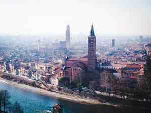 Verona view from Castel Pietro, Italy (2016-01-21)