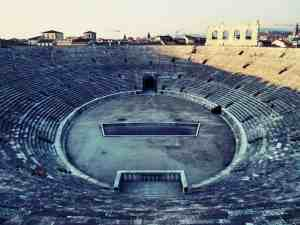 Roman arena / amphitheatre, Verona, Veneto, Italy (2016-01-21)