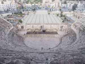 Looking down from the Roman amphitheater in Amman, Jordan (2016-12-19)