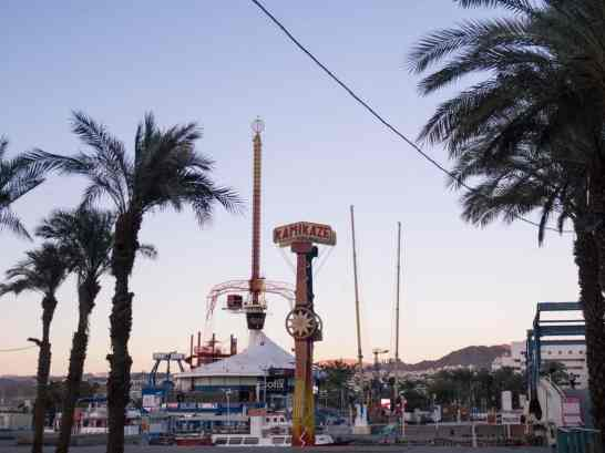 Fairground on the promenade in Eilat, Israel (2016-12-31)